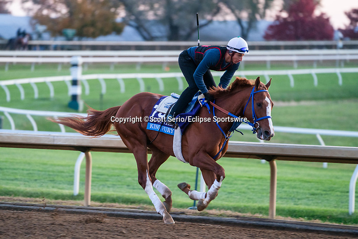 November 5, 2020: King Fury, trained by trainer Kenneth G. McPeek, exercises in preparation for the Breeders' Cup Juvenile at Keeneland Racetrack in Lexington, Kentucky on November 5, 2020. Scott Serio/Eclipse Sportswire/Breeders Cup/CSM