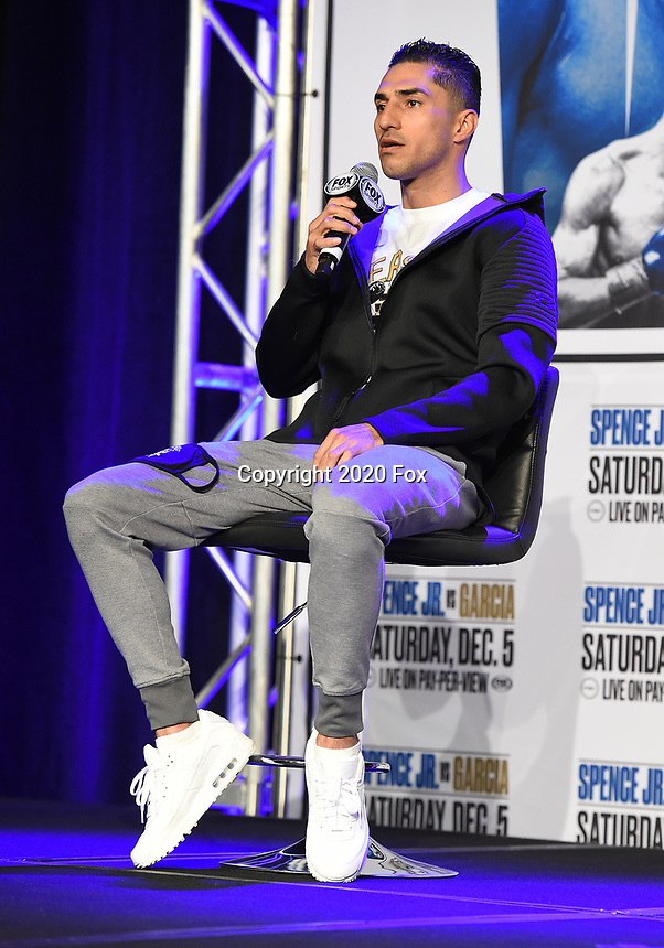 DALLAS, TX - DECEMBER 3: Josesito Lopez attends the undercard press conference for the Errol Spence Jr. vs Danny Garcia December 5, 2020 Fox Sports PBC Pay-Per-View title fight at AT&T Stadium in Arlington, Texas. (Photo by Frank Micelotta/Fox Sports)
