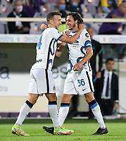 21nd September 2021; Artemio Franchi Stadium, Florence, Italy; Serie A championship football, AC Fiorentina versus Inter MIlan; Matteo Darmian of FC Internazionale celebrates after scoring the goal 1-1