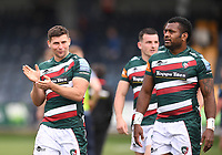 29th May 2021; Sixways Stadium, Worcester, Worcestershire, England; Premiership Rugby, Worcester Warriors versus Leicester Tigers; Ben Youngs of Leicester Tigers applauds the fans after the match