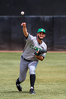 Clinton LumberKings pitcher Tommy Romero (29) warms up in the outfield prior to a Midwest League game against the Wisconsin Timber Rattlers on April 26, 2018 at Fox Cities Stadium in Appleton, Wisconsin. Clinton defeated Wisconsin 7-3. (Brad Krause/Four Seam Images)