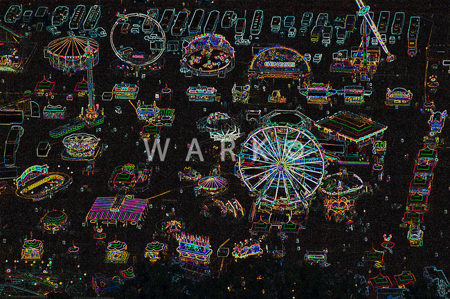 Colorado State Fair carnival with creative effects. 2013.