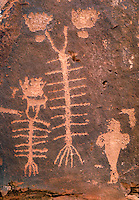 Indian rock art, Petroglyphs. Moab Utah USA Kane Creek.