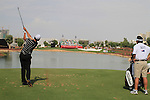 Adam Scott tees off on the par 3 6th tee during  Day 2 at the Dubai World Championship Golf in Jumeirah, Earth Course, Golf Estates, Dubai  UAE, 20th November 2009 (Photo by Eoin Clarke/GOLFFILE)