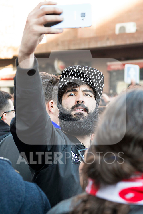 Youtuber and TV Host Sr. Cheeto before match between Atletico de Madrid and FC Barcelona Champions League 2015/2016 Quarter-Finals 2nd leg match. April 13, 2016. (ALTERPHOTOS/BorjaB.Hojas)