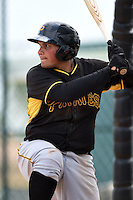 Pittsburgh Pirates Carlos Munoz (22) during a minor league spring training game against the Toronto Blue Jays on March 26, 2015 at Pirate City in Bradenton, Florida.  (Mike Janes/Four Seam Images)