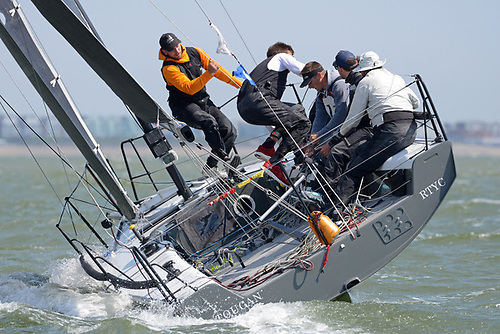 Action on board Glyn Locke's Farr 280 Toucan competing in the HP30 class Photo: Rick Tomlinson