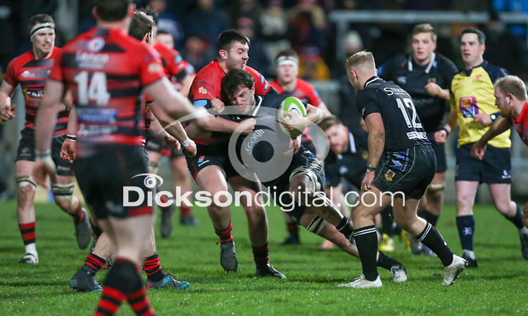 Friday 8th February 2019 | First Trust Ulster Senior Cup Final<br /> <br /> James Gallagher during the First Trust Ulster Senior Cup Final between Armagh and Ballymena at Kingspan Stadium, Ravenhill Park, Belfast, Northern Ireland. Photo by John Dickson / DICKSONDIGITAL