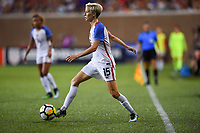 Cincinnati, OH - Tuesday September 19, 2017: Megan Rapinoe during an International friendly match between the women's National teams of the United States (USA) and New Zealand (NZL) at Nippert Stadium.