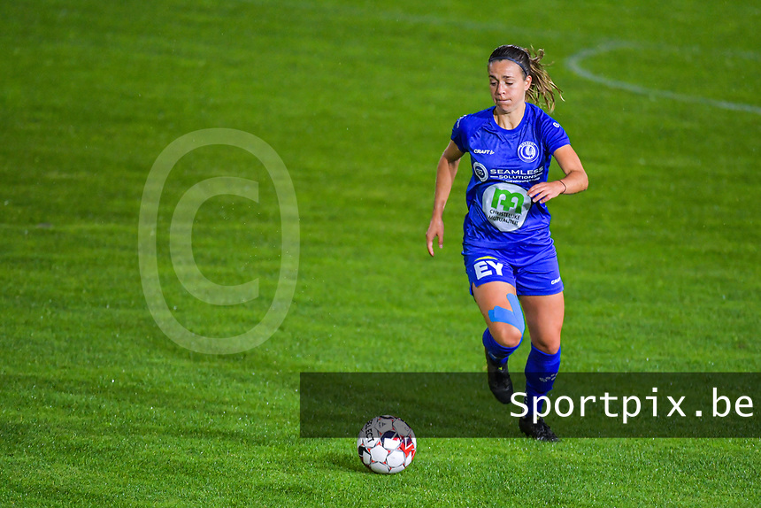 Gent's midfielder Elise Meijerink (23) pictured during a female soccer game between  AA Gent Ladies and Femina White Star Woluwe on the third matchday of the 2020 - 2021 season of Belgian Scooore Womens Super League , friday 2 nd of October 2020  in Oostakker , Belgium . PHOTO SPORTPIX.BE | SPP | STIJN AUDOOREN