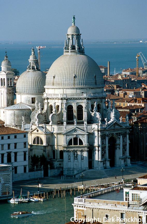 Santa Maria della Salute, Canal Grande, Venedig,  Venetien, Italien, Unesco-Weltkulturerbe