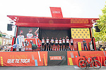 UAE Team Emirates best team after yesterday's stage at sign on before the start of Stage 6 of La Vuelta d'Espana 2021, running 158.3km from Requena to Alto de la Montaña Cullera, Spain. 19th August 2021.    <br /> Picture: Cxcling   Cyclefile<br /> <br /> All photos usage must carry mandatory copyright credit (© Cyclefile   Cxcling)