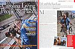 An article in Southern Living magazine profiling photographer Mark Sluder. The article was written by Addie Sluder Hall, the photographer's daughter who was a writer for the magazine at the time.