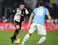 Football, Serie A: S.S. Lazio - Juventus Olympic stadium, Rome, December 7, 2019. <br /> Juventus' Cristiano Ronaldo (l) in action with Lazio's captain Senad Lulic (r) during the Italian Serie A football match between S.S. Lazio and Juventus at Rome's Olympic stadium, Rome on December 7, 2019.<br /> UPDATE IMAGES PRESS/Isabella Bonotto