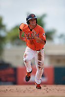 Baltimore Orioles left fielder Trevor Craport (59) runs the bases during a Florida Instructional League game against the Pittsburgh Pirates on September 22, 2018 at Ed Smith Stadium in Sarasota, Florida.  (Mike Janes/Four Seam Images)