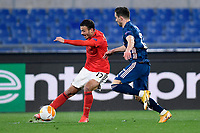 18th February 2021, Rome, Italy;  Diogo Goncalves of SL Benfica challenged by Cédric Soares of Arsenal during the UEFA Europa League round of 32 Leg 1 match between SL Benfica and Arsenal at Stadio Olimpico, Rome, Italy on 18 February 2021.
