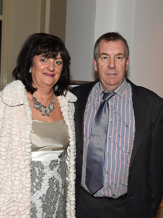 Audrey Callaghan and her husband Rory from Finlays Sweet shop was the winner of the 'Happiest Trader' Award at the Ardee Traders Awards night in the Nuremore hotel Carrickmacross. Photo:Colin Bell/pressphotos.ie