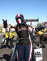 Jul 30, 2017; Sonoma, CA, USA; NHRA top fuel driver Steve Torrence celebrates after winning the Sonoma Nationals at Sonoma Raceway. Mandatory Credit: Mark J. Rebilas-USA TODAY Sports