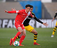 06.01.2018,  Football 1.Liga 2017/2018,  trainings camp of  Borussia Dortmund in Marbella in spain, pre season friendly, Fortuna Duesseldorf - Borussia Dortmund, Estadio Municipal in La Línea de la Concepción (Gibraltar). Didier Ya Konan (Duesseldorf) , , Duell,  , Action, , *** Local Caption *** © pixathlon<br /> <br /> +++ NED + SUI out !!! +++<br /> Contact: +49-40-22 63 02 60 , info@pixathlon.de