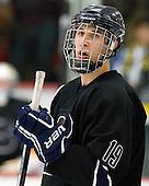 Zach Marginsky (Bentley - 19) - The Harvard University Crimson defeated the visiting Bentley University Falcons 5-0 on Saturday, October 27, 2012, at Bright Hockey Center in Boston, Massachusetts.