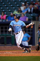 NW Arkansas Naturals first baseman Alex Liddi (22) at bat during a game against the San Antonio Missions on May 30, 2015 at Arvest Ballpark in Springdale, Arkansas.  San Antonio defeated NW Arkansas 5-2.  (Mike Janes/Four Seam Images)
