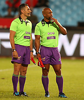 Assistant Referee Angus Gardner (Australia) with Assistant Referee Egon Seconds (South Africa) during the Super Rugby match between the Vodacom Bulls and the Jaguares at Loftus Versfeld, Pretoria,South Africa April 15th 2017 Photo by (Steve Haag)
