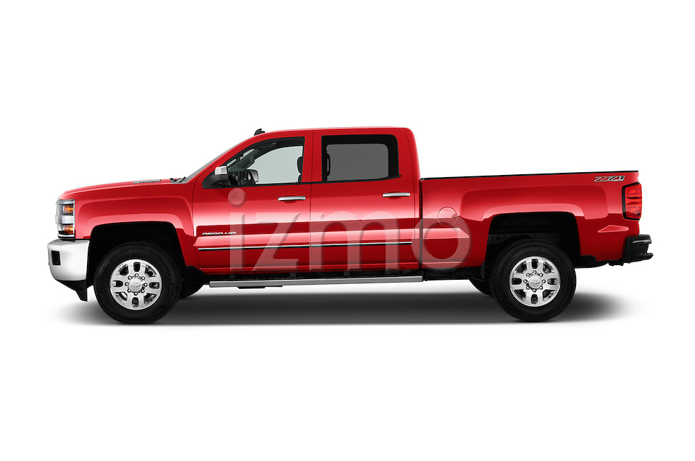 Car driver side profile view of a 2015 Chevrolet Silverado 2500 4 Door Van