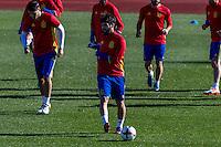 Spainsh Alvaro Morata and Francisco Alarcon Isco during the training of the spanish national football team in the city of football of Las Rozas in Madrid, Spain. November 10, 2016. (ALTERPHOTOS/Rodrigo Jimenez) ///NORTEPHOTO.COM