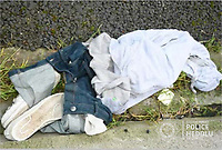 """Pictured: Jordan Brown's clothes.<br />Re: Jordan Brown has today been sentenced, at Cardiff Crown Court, to life imprisonment for the murder of Jordan Davies.<br />The 25-year-old from Barry must serve a minimum of 24 years.<br />Jordan Davies, 23, died after being stabbed in Holton Road, Barry, on the afternoon of Monday, December 16.<br />His family have released the following statement:<br />""""Jordan was a quiet, shy man who would rather sit and listen rather than take the lead.<br />He was a loving son, brother and father of two.<br />We would like to say a massive thank you to South Wales Police, to all the legal team involved with this case, to the jury we would like to thank you for coming to the right decision.<br />To all witnesses who took their time to give evidence,<br />To all friends and family who have supported our family throughout this tough time.""""<br />Statement from Senior Investigating Officer, Detective Inspector Matt Powell:<br />""""This concludes a South Wales Police Major Crime Investigation into the murder of Jordan Davies which took place in Holton Road, Barry.<br />""""Following a confrontation in the street with his then friend, Jordan Brown, he was stabbed three times with one fatal wound to his chest<br />""""Mr Davies collapsed and Brown fled from the scene, discarding his clothes in a nearby lane.<br />""""Despite the best efforts of members of the public and extensive medical treatment by medical professionals who attended the scene, Mr Davies sadly did not survive.<br />""""Jordan Davies' family have shown tremendous courage and dignity. They have waited patiently due to delays brought about by the current pandemic to see justice delivered.<br />""""We hope the outcome at Cardiff Crown Court can go some way in helping them to recover from this tragedy.<br />""""This tragic case yet again highlights the devastating and far-reaching consequences of knife crime.<br />""""I cannot stress enough the importance of loved ones reporting their concerns if they su"""