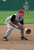 August 12, 2003:  Third Baseman Brook Koman of the Tri-City ValleyCats during a game at Dwyer Stadium in Batavia, New York.  Photo by:  Mike Janes/Four Seam Images