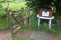 Hadrian's Wall Honesty Box near Bleatarn Farm, Cumbria, England, UK