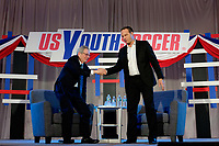 Philadelphia, PA - Saturday January 20, 2018: JP Dellacamera, Eric Wynalda during the U.S. Soccer Federation Presidential Election Candidates Forum hosted by US Youth Soccer at the Philadelphia Marriott Downtown Grand Ballroom.