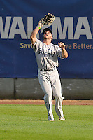 Beloit Snappers right fielder Brett Siddall (35) catches a fly ball during the game against the Clinton LumberKings at Ashford University Field on June 11, 2016 in Clinton, Iowa.  The LumberKings won 7-6.  (Dennis Hubbard/Four Seam Images)