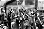 Summer '99-- Jakarta, Indonesia -- The PDI sign by Megawati loyalists.