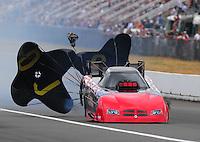 Aug. 6, 2011; Kent, WA, USA; NHRA funny car driver Gary Densham during qualifying for the Northwest Nationals at Pacific Raceways. Mandatory Credit: Mark J. Rebilas-