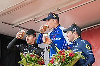 victory cheers/beers for:<br /> 1/ Philippe Gilbert (BEL/Quick Step floors)<br /> 2/ Michal Kwiatkowski (POL/SKY)<br /> 3/ Michael Albasini (SUI/Orica-Scott)<br /> <br /> 52nd Amstel Gold Race (1.UWT)<br /> 1 Day Race: Maastricht › Berg en Terblijt (264km)