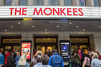 General view of crowds arriving at Hammersmith Eventim Apollo ahead of 'An Evening with The Monkeeys'.  Micky Dolenz and Peter Tork from The Monkees perform at Hammersmith Eventim Apollo, 45 Queen Caroline Street, UK on 4 September 2015 - their first performance in London since the passing of Davy Jones in February 2012 . Photo by David Horn.