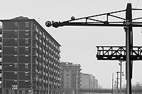 - Milan outskirtses, residential buildings and ancient industrial structures....- periferie di Milano, palazzi  residenziali e antiche strutture industriali