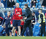 David Weir and Alan Archibald at full-time