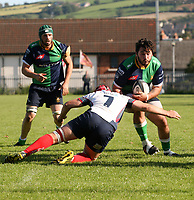 Saturday 26th September 2020 | Malone vs Ballynahinch<br /> <br /> Nacho Caldera on the attack for Ballynahinch during the Ulster Senior League fixture between Malone and Ballynahinch at Gibson Park, Belfast, Northern Ireland. Photo by John Dickson / Dicksondigital