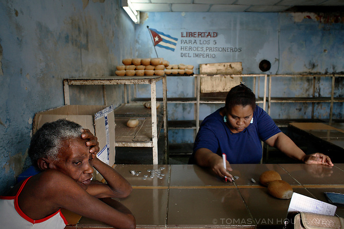 People buy bread in a bakery in Havana, Cuba on 4 August 2006.<br />