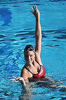 3 October 2005: Elizabeth Anne Markman during synchronized swimming picture day at the Avery Aquatic Center in Stanford, CA.