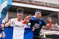 SAN PEDRO SULA, HONDURAS - SEPTEMBER 8: Fans cheer during a game between Honduras and USMNT at Estadio Olímpico Metropolitano on September 8, 2021 in San Pedro Sula, Honduras.