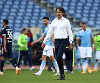 Football, Serie A: S.S. Lazio - Juventus Olympic stadium, Rome, November 8, 2020. <br /> Lazio's coach Simone Inzaghi at the end of the Italian Serie A football match between Lazio and Juventus at Olympic stadium in Rome, on November 8, 2020.<br /> The result of the match is 1-1.<br /> UPDATE IMAGES PRESS/Isabella Bonotto