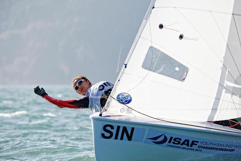 Singapore420WomenCrewSINCT3CherylTeo<br /> Singapore420WomenHelmSINEY2ElisaYokoyama<br /> Day2, 2015 Youth Sailing World Championships,<br /> Langkawi, Malaysia