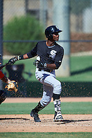 Chicago White Sox Luis Mieses (13) during an Instructional League game against the San Francisco Giants on October 10, 2016 at the Camelback Ranch Complex in Glendale, Arizona.  (Mike Janes/Four Seam Images)