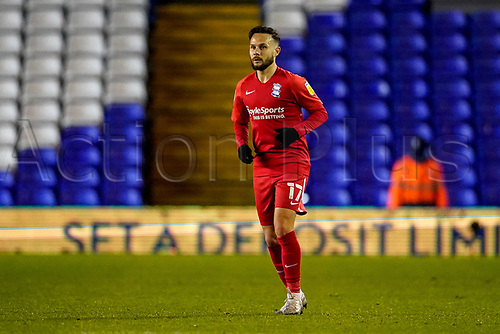 20th November 2020; St Andrews Stadium, Coventry, West Midlands, England; English Football League Championship Football, Coventry City versus Birmingham City; Iván Sánchez of Birmingham Citywaits for the ball to come his way