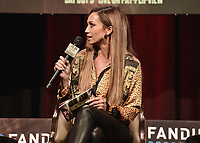 LAS VEGAS, NV - OCTOBER 6:  Kate Abdo at the press conference at the MGM Grand Garden Arena on October 6, 2021 for their upcoming Fox Sports PBC pay-per-view fight in Las Vegas, Nevada. The Fury vs Wilder III pay-per-view fight will be on Saturday, October 9 at T-Mobile Arena in Las Vegas. (Photo by Scott Kirkland/Fox Sports/PictureGroup)