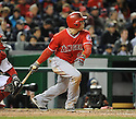 Los Angeles Angels JB Shuck (3) during a game against the Washington Nationals on April 23, 2014 at Nationals Park in Washington, DC. The Nationals beat the Angels 5-4.