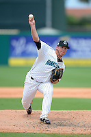 Jupiter Hammerheads pitcher Colby Suggs (28) during a game against the Tampa Yankees on July 18, 2013 at Roger Dean Stadium in Jupiter, Florida.  Jupiter defeated Tampa 6-1.  (Mike Janes/Four Seam Images)
